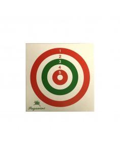 Bersaglio Cerchi Colorati 14x14 cm 100pz