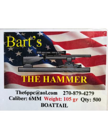 BART'S The Hammer cal. 6mm - 105 gr - VLD
