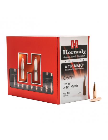 """HORNADY PALLE A-TIP 264"""" 135GR 100PZ."""