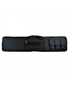 JS TACTICAL CUSTODIA ROYAL IN NYLON IMBOTTITA NERA 130cm CON TASCHE x CARABINA