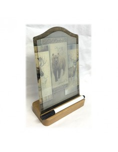 Cry Erase Memo Board Oak Stand BEAR