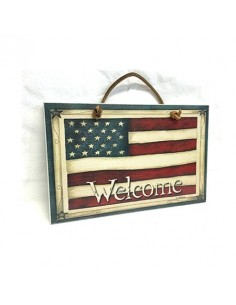 Quadretto WELCOME USA da appendere