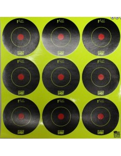 "Splatter Shot 2"" Green Bull's Eye 12Pz."