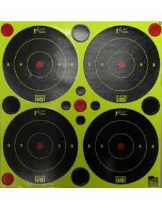 "Splatter Shot 3"" Green Bull's Eye 12Pz."