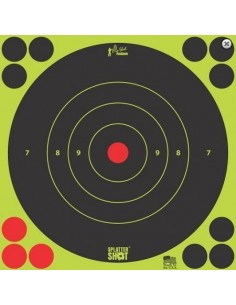 "Splatter Shot 8"" Green Bull's Eye 6Pz."