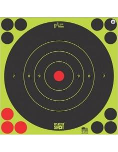 """Splatter Shot 12"""" Green Bull's Eye 5Pz."""