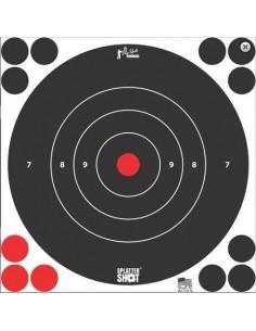 """Splatter Shot 12"""" White Bull's Eye 5Pz."""
