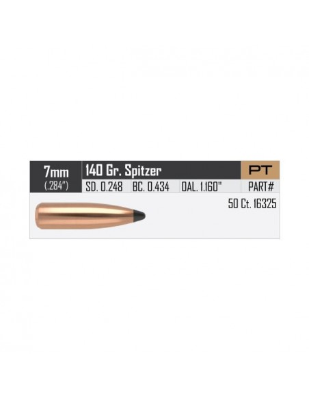 "NOSLER PARTITION 284"" 140GR SPITZER"
