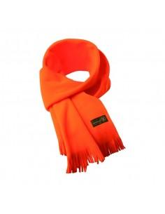Sciarpa in pile arancio cm. 200
